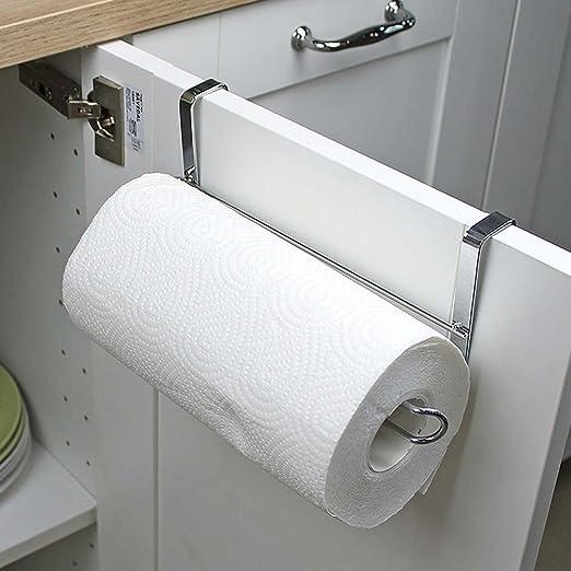 Kitchen Roll Paper Under Cabinet Door Toliet Towel Holder Rack Stainless Steel