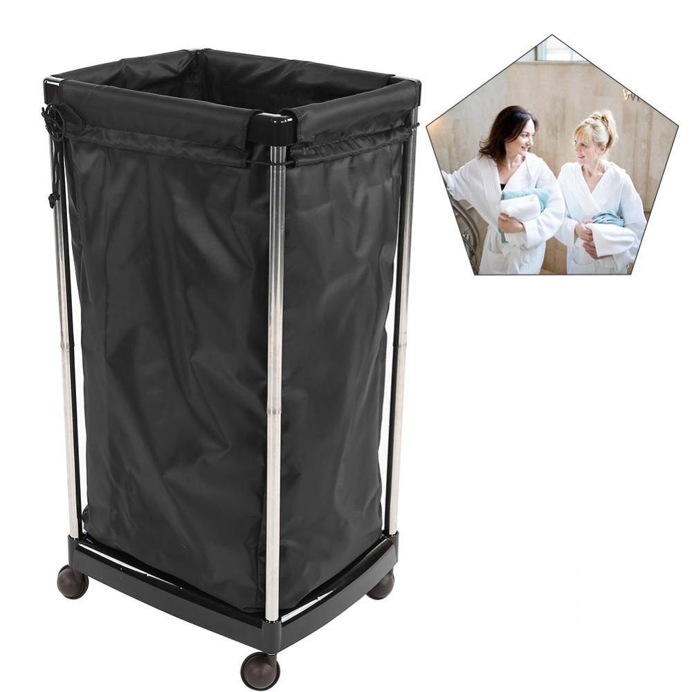 Salon Towel Basket, Portable Mobile Rolling Laundry Cart For Barber Shop Beauty SPA Tool Sorter Storage