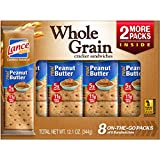 Lance Whole Grain Cracker Sandwiches with Peanut Butter, 8 Count (Pack of 14)