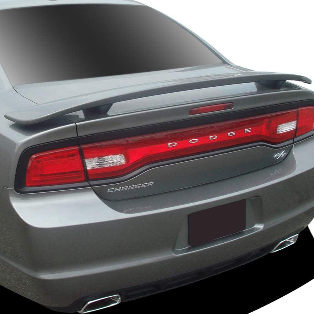 XR Dawn Enterprises CH-RT11 Factory Style Pedestal Spoiler Compatible with Dodge Charger Brilliant Black