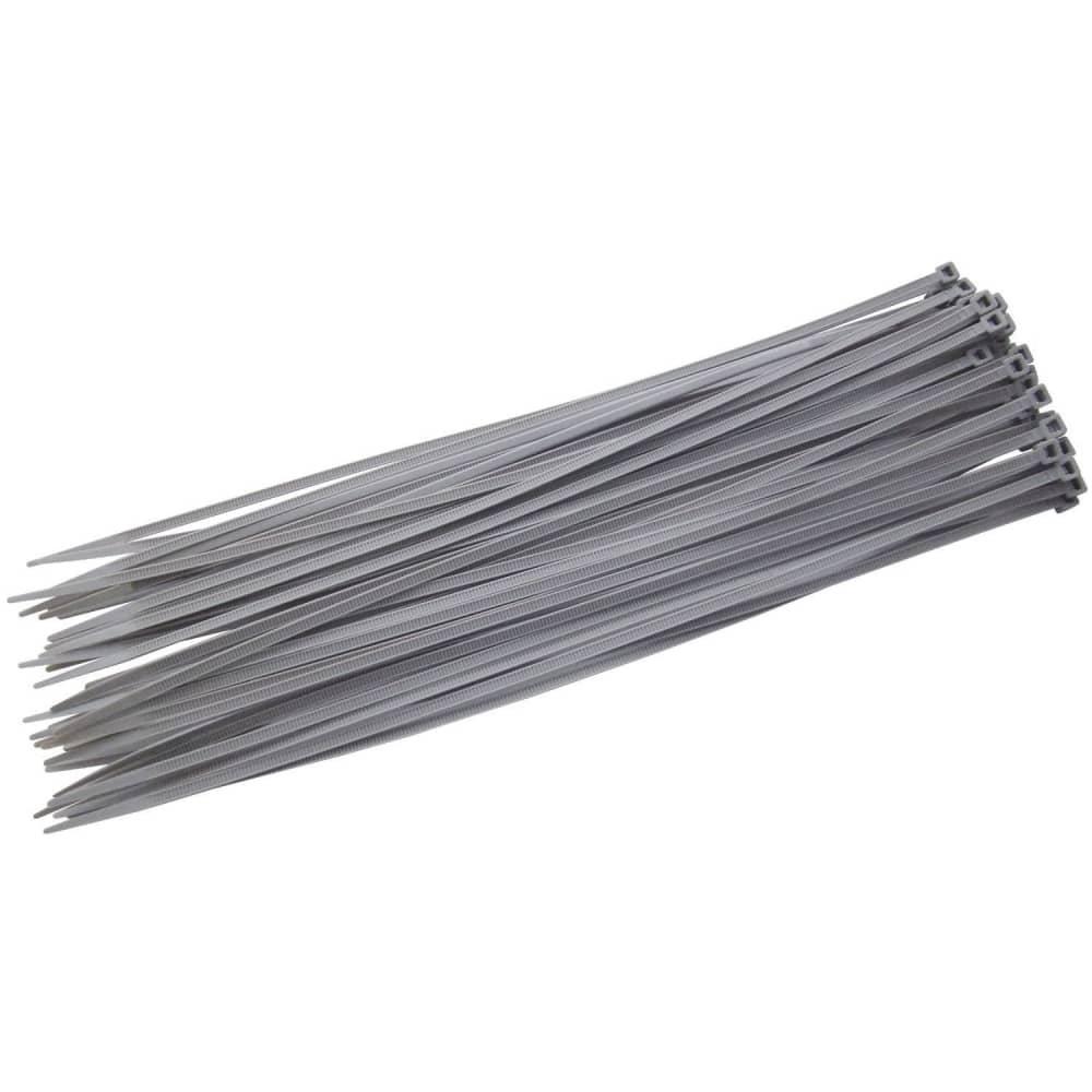 100 pezzi, colore: Argento/Grigio fascette –  300 mm x 4.8 mm fascette in nylon resistente di alta qualità  –  autobloccante zip fascette Evolution of Eden®