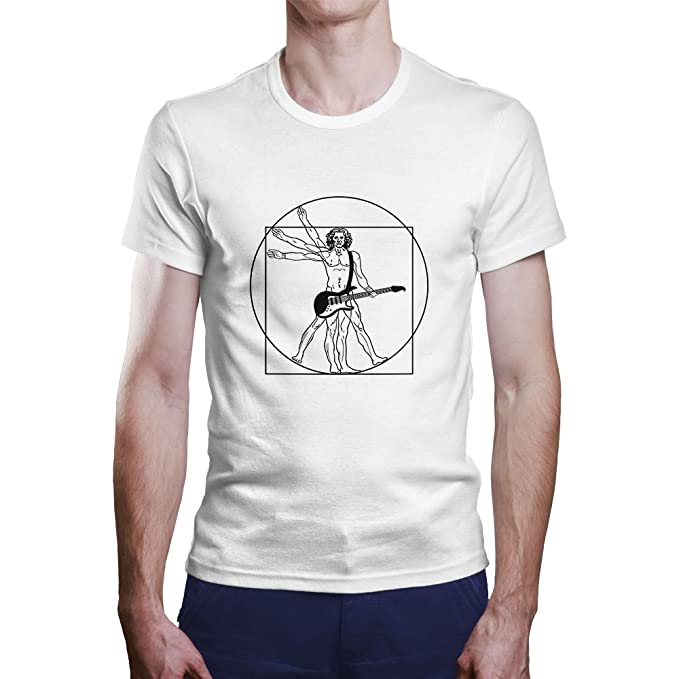 Camiseta Vinicius Rock. Una Camiseta de Hombre de Vinicius con Una Guitarra Eléctrica. Camiseta Friki de Color Blanca: Amazon.es: Ropa y accesorios
