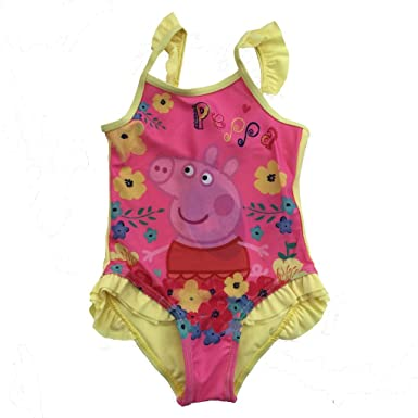 a9a968edbf1ff Peppa Pig Kids Boys and Girls Licensed Merchandise Swimming Costume Swimsuit:  Amazon.co.uk: Clothing