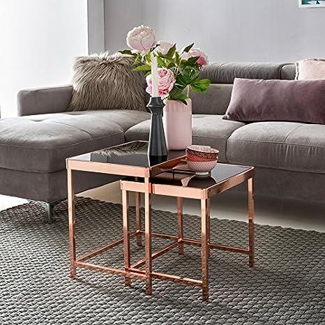 KadimaDesign progettazione set di 2 tavoli nidificazione tavolino di ...