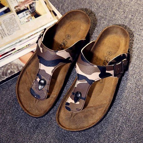 Xing Lin Sandalias De Hombre Los Hombres Zapatillas Sandalias De Verano Playa Del Hombre Zapatos Antideslizantes Sandalias De Pie Clip Camo