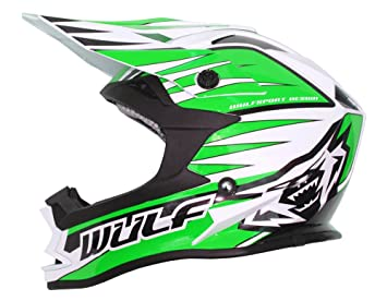 Wulfsport Advance Motor Ciclo Bike Motocross deportes verde pista Kart Racing Casco y Gafas