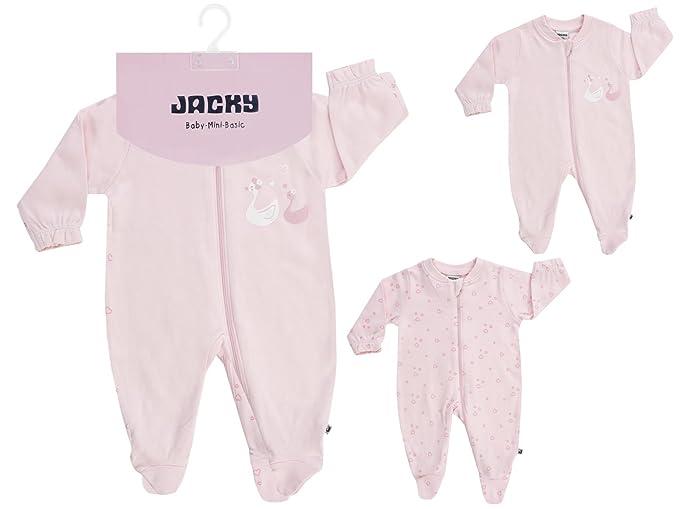 Jacky - Pelele para dormir - para bebé niña rosa rosa
