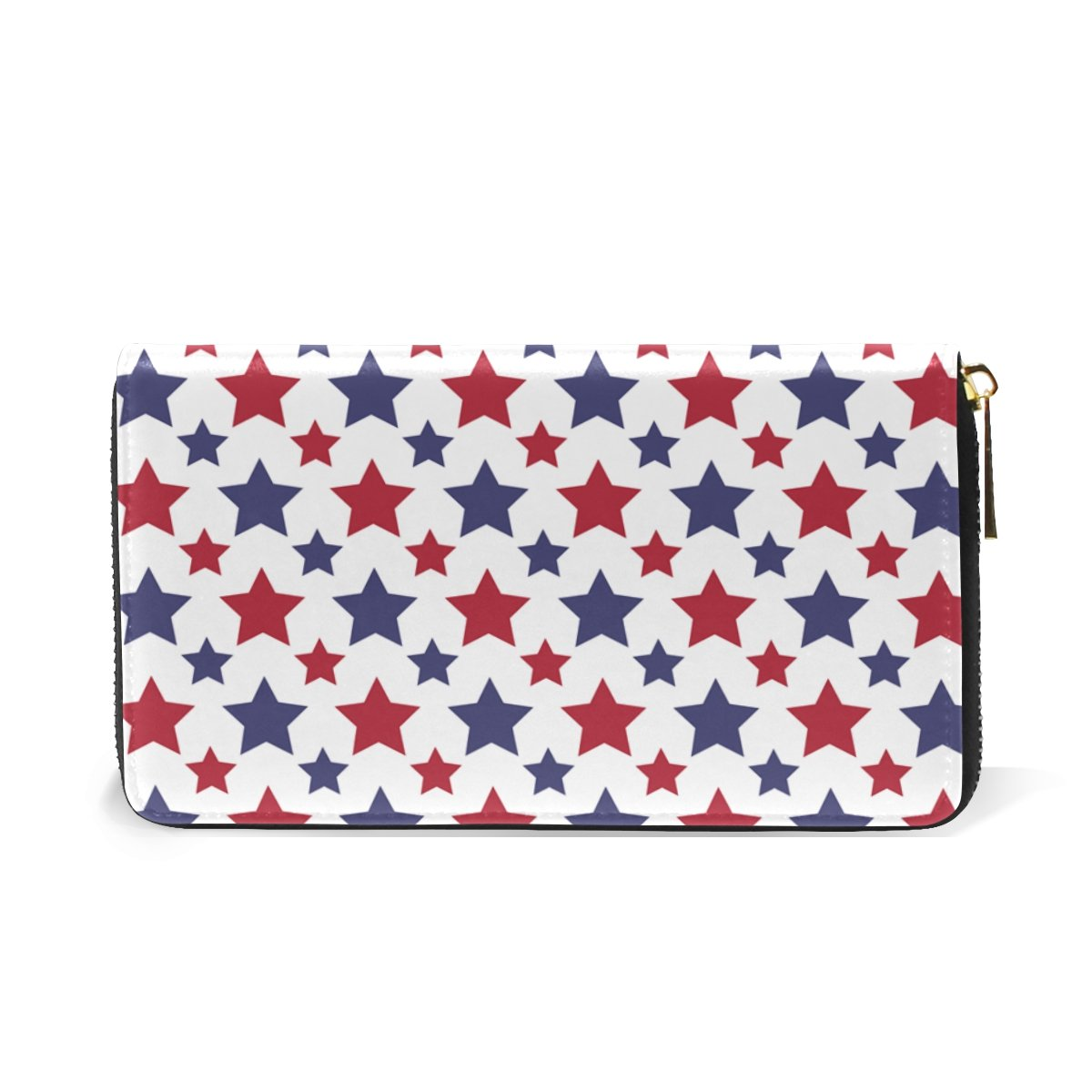 MAPOLO Red Blue Stars Womens Clutch Purses Organizer And Handbags Zip Around Wallet