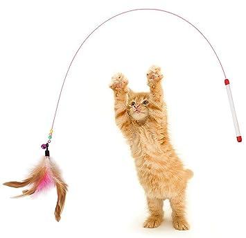 Demarkt Juguete de Gatos Gato stick Palanca Juego Interactivo con Campana para Gatito Mascotas(Color aleatorio): Amazon.es: Hogar