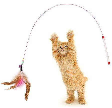 Demarkt Juguete de Gatos Gato stick Palanca Juego Interactivo con ...