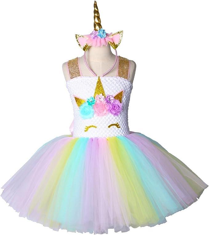 Amazon.com: Disfraz de unicornio de Halloween para niñas ...