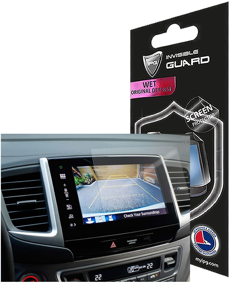 for Honda Pilot 2016-2017 8'' Display Touch Screen Radios Screen Protector Invisible Ultra HD Clear Film Anti Scratch Skin Guard - Smooth/Self-Healing/Bubble -Free by IPG