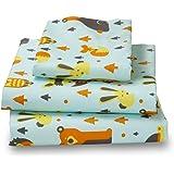 Twin Woodland Print Bed Sheet Set for Kids Bedding