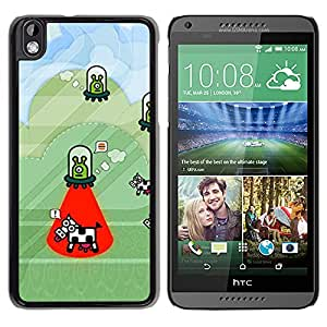 Exotic-Star ( Cow Abduction Funny Cartoon Conspiracy ) Fundas Cover Cubre Hard Case Cover para HTC DESIRE 816