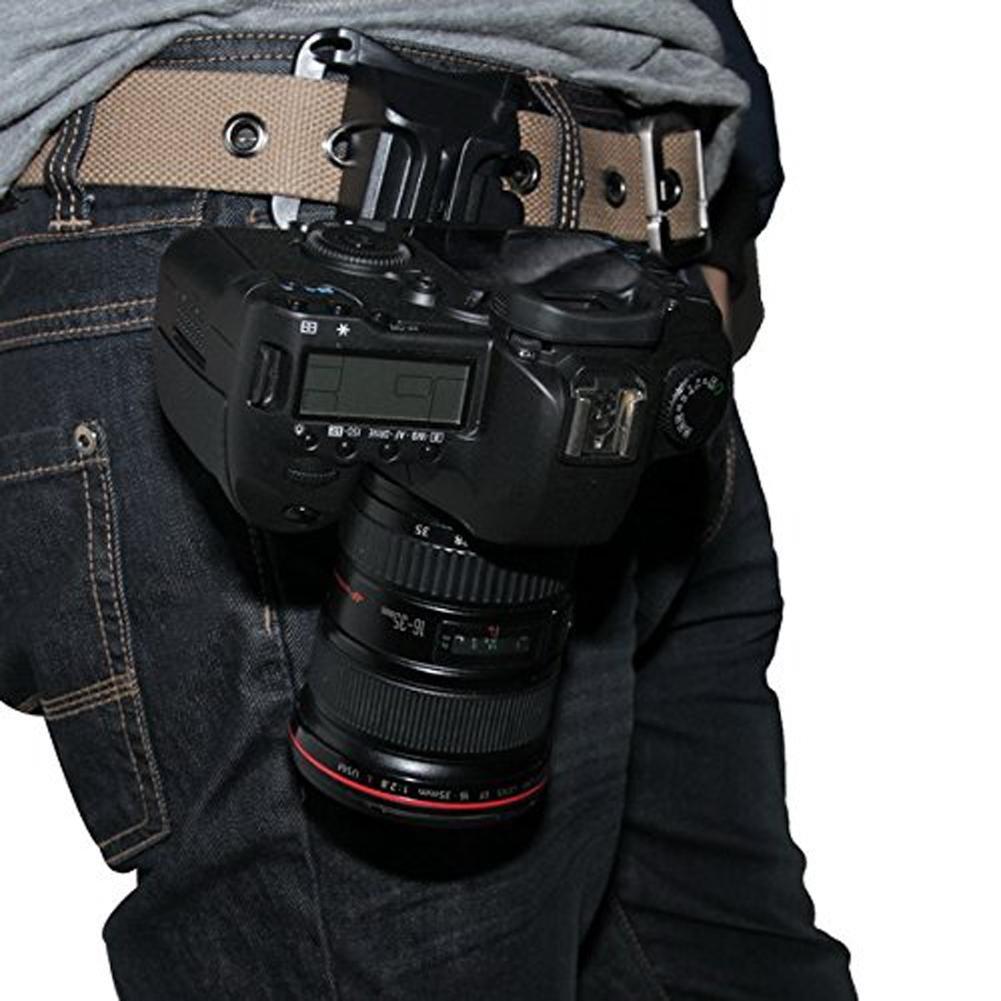 Demiawaking Fast Loading Fibbia con Cinghia in Vita Clip di Fissaggio per Fotocamera DSLR