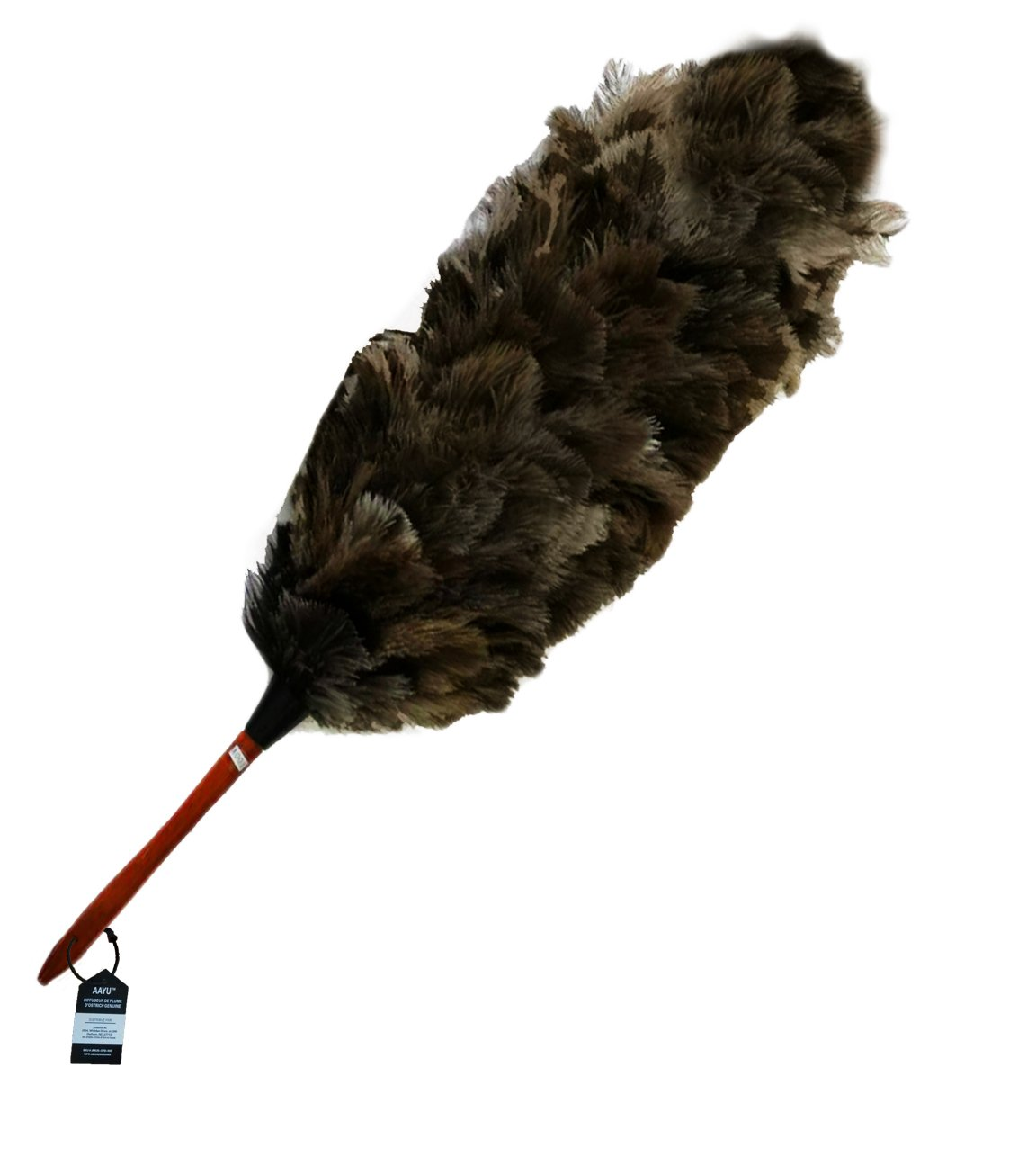 Ostrich Feather Duster Professional for Car and Home | Natural Duster for Cleaning and Feather Moping | Genuine Ostrich Feather Duster Long Wooden Handle | Eco-Friendly | Easy to Clean Dust 26 inch