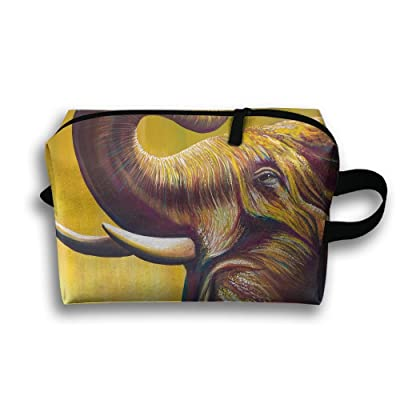 Travel Bag Elephant Creative Painting Design Love Cosmetic Bags Brush Pouch Portable Makeup Bag Zipper Wallet Hangbag Pen Organizer Carry Case Wristlet Holder