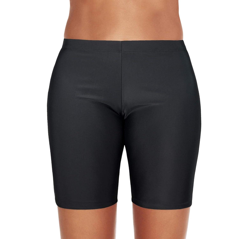 04dfddd0194 Amazon.com  Zando Womens Swim Shorts Bathing Suits for Womens Board Shorts  Swimsuit Bottoms Swimming Shorts Sport Boyshorts  Clothing