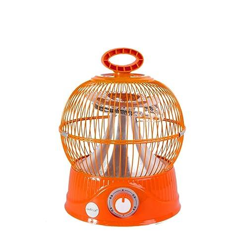 EFVFG Ventilador De Calefacción Eléctrica Tubo De Fibra De Carbono, Jaula Esférica, Calentador Eléctrico