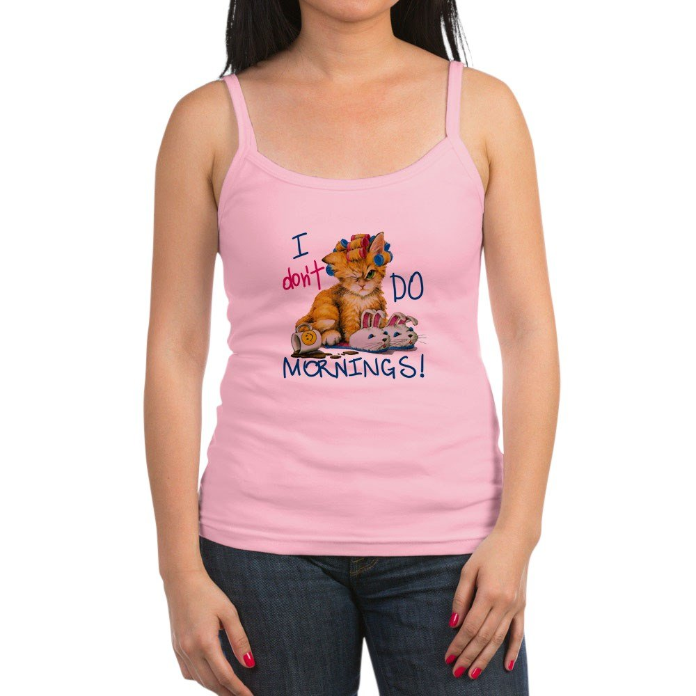 Royal Lion Jr Spaghetti Tank I Dont Do Mornings Cat