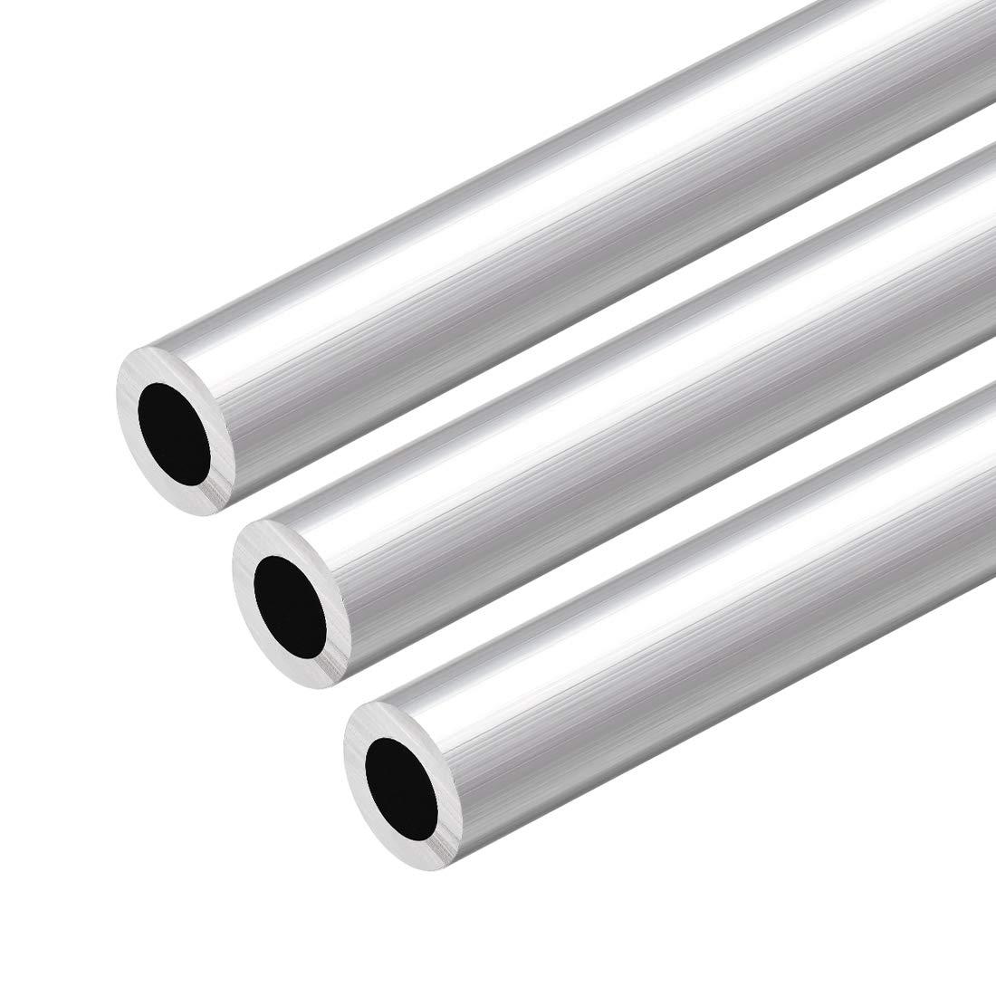 uxcell 6063 Aluminum Round Tube 300mm Length 18mm OD 15mm Inner Dia Seamless Aluminum Straight Tubing