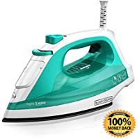 ArtMuseKit IR1010 Light 'N Easy Compact Steam Iron (Turquoise)