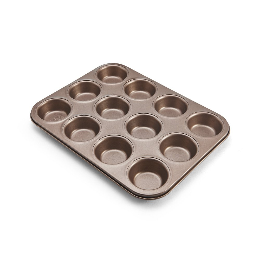 Chicago Metallic 5212101 Muffin/Cupcake Pan, 12-Cup, Bronze