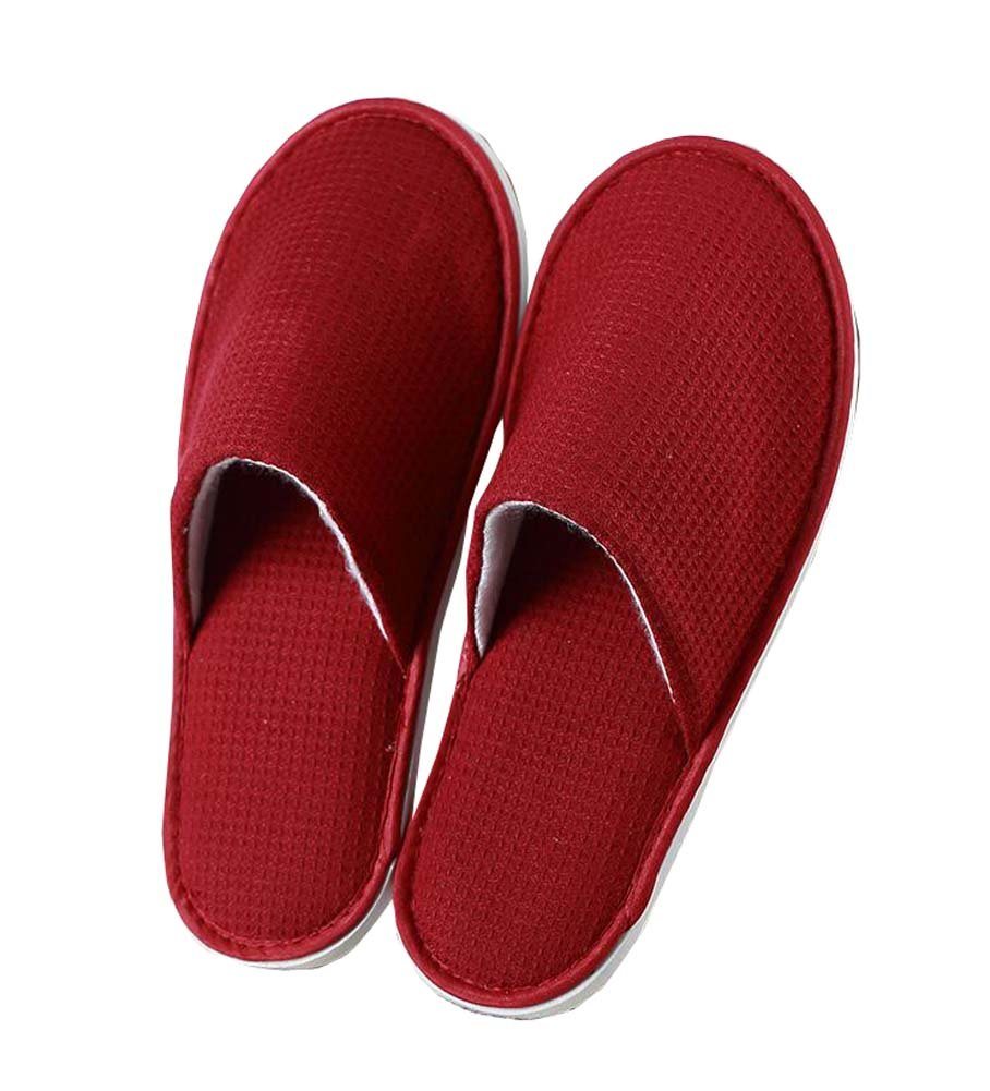 4 Pairs Home Guest Slippers Disposable Hotel/Spa Salon Slippers Red DRAGON SONIC