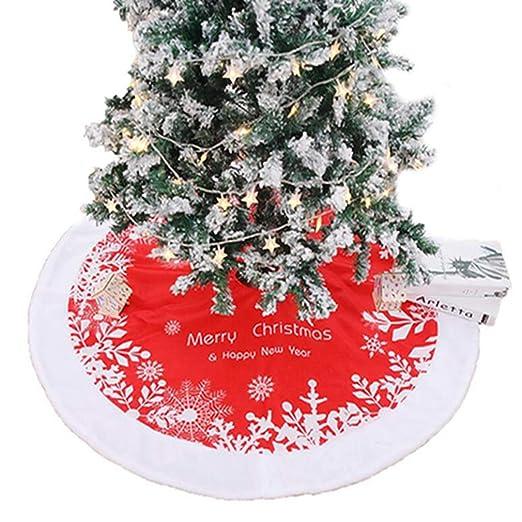 Kaned Falda de árbol de Navidad con diseño de Copo de Nieve ...