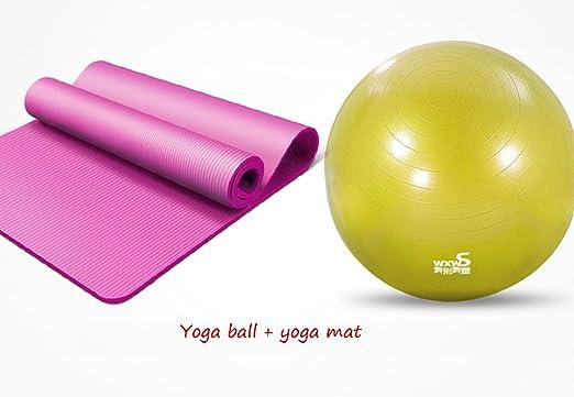 HCJYJQ GUORONG Pelota de Yoga + tapete de Yoga, Espesar ...