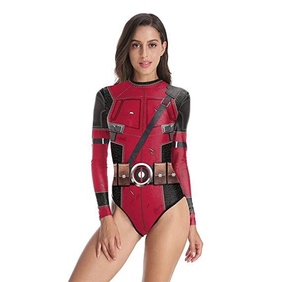 QWEASZER Marvel Deadpool traje de baño traje de baño de ...