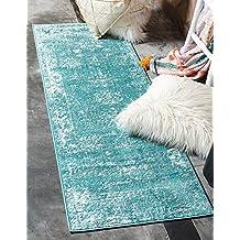 Unique Loom Home Decor Area Rug, 2' X 6 ' ' ', Turquoise