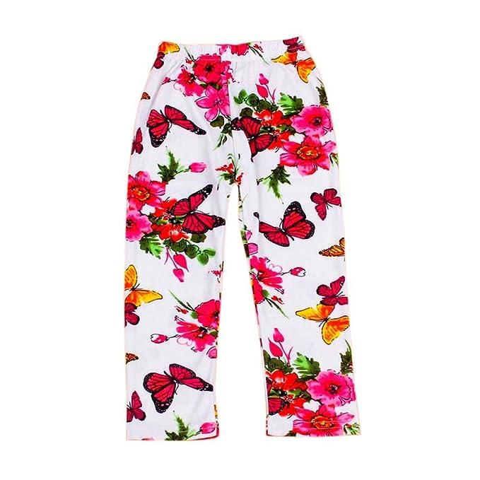 Bebés de los niños que imprimen los pantalones de la novena flor de ...