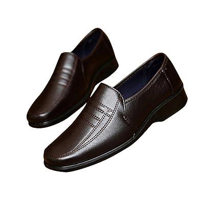 qianchuangyuan Lederschuhe Herren, Oxfords Schnürer Atmungsaktiv Leichte Modische Schuhe Anzug Schuhe