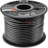 Mediabridge 12AWG 2-Conductor Direct Burial Speaker Wire (200 Feet, Red/Black) - 99.9% Oxygen Free Copper ( SWDB-12X2-200 )