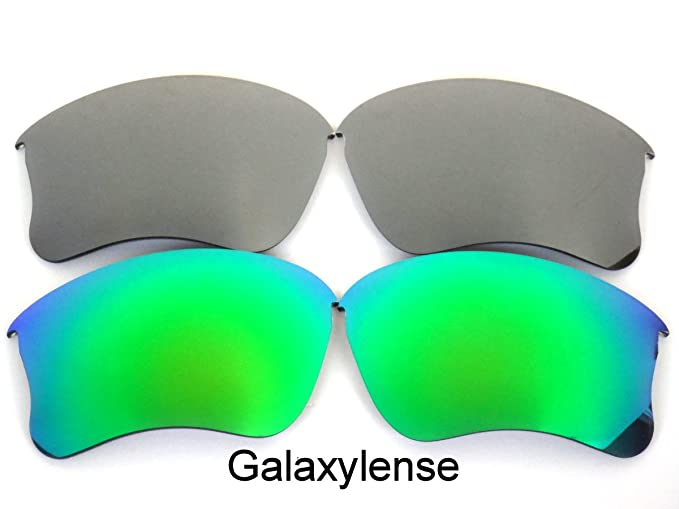 b556910421 Galaxy Replacement Lenses for Oakley Flak Jacket XLJ Green Gray Color  Polarized 2 Pairs
