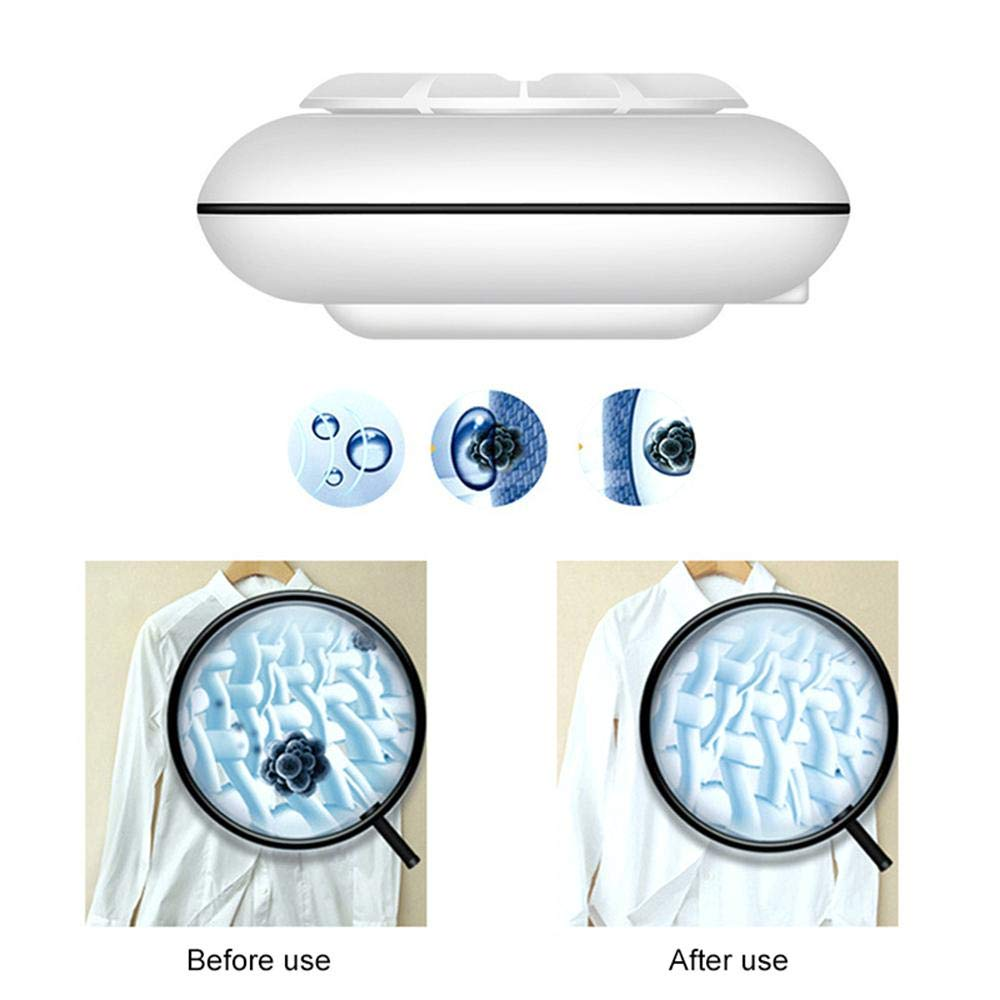 Portable 5V USB Travel Laundry for Business Trip Clothes Fruit Jewelry Glasses Vegetables KOBWA 2019 Ultrasonic Turbine Washing Machine