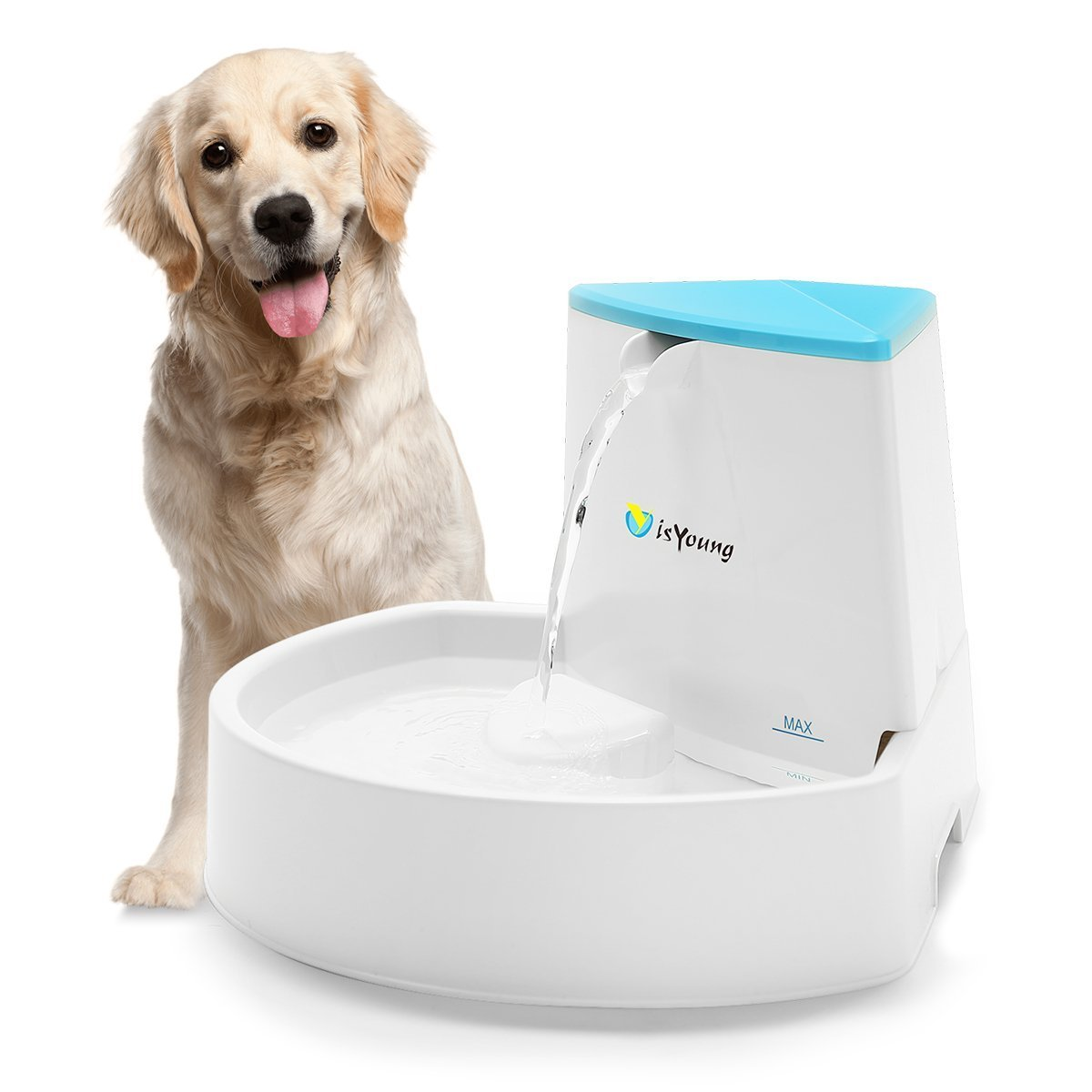 isYoung Pet Fountain for Cats and Dogs, Cat Fountain Automatic Water Dispenser, Healthy and Hygienic Dog Fountain