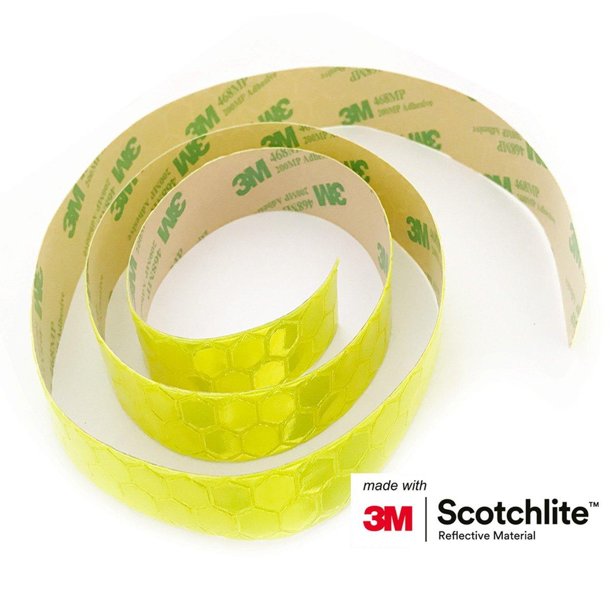 Salzmann 3M Cinta Reflectante, Equipada con 3M Scotchlite, Adhesivo de Alta Visibilidad para Mochilas, Bicicletas, Cascos, Cajas de almacenaje, ...