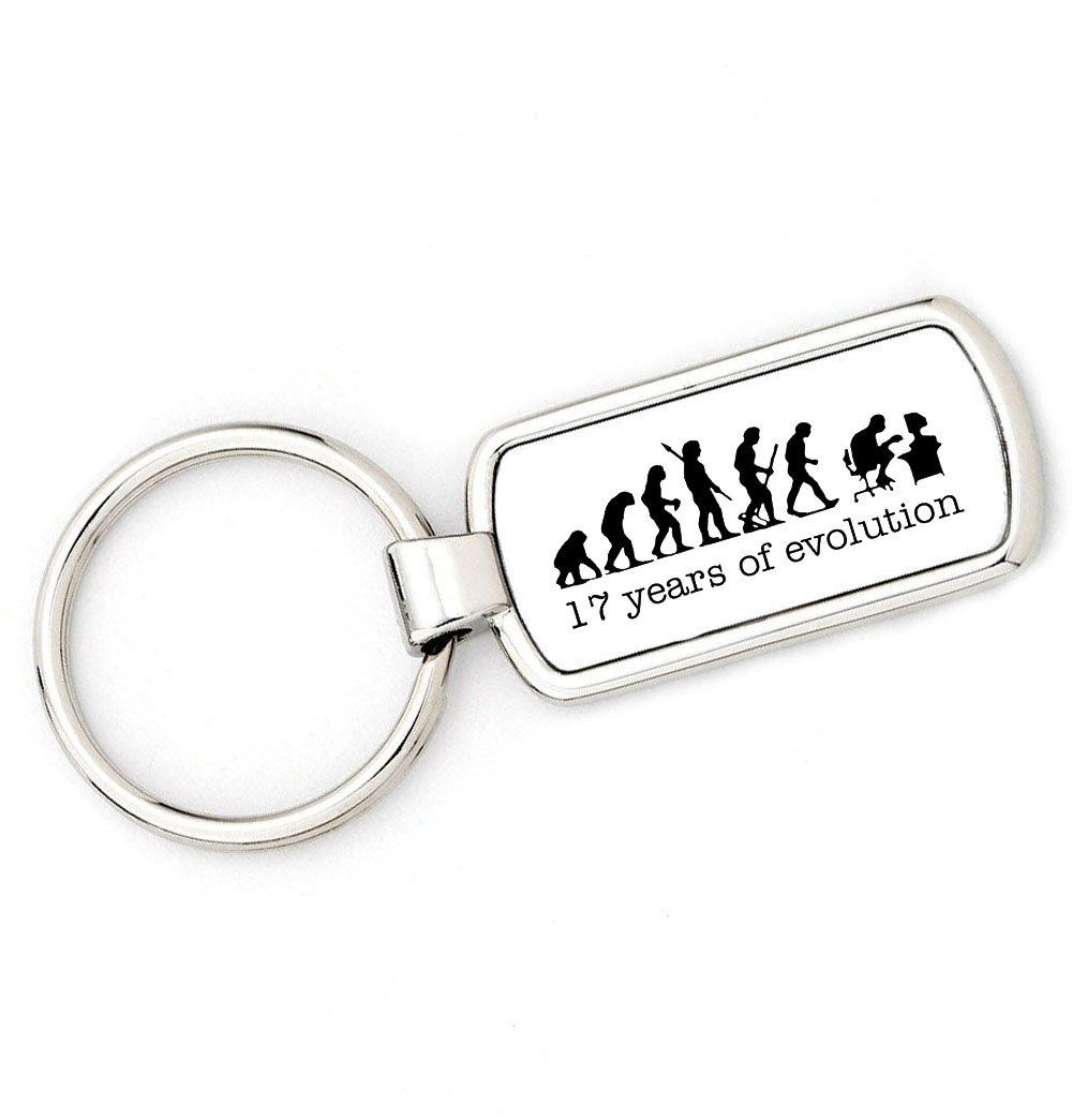 COMPUTER Mans Evolution Key Ring brandevo 17th Birthday Gift age.