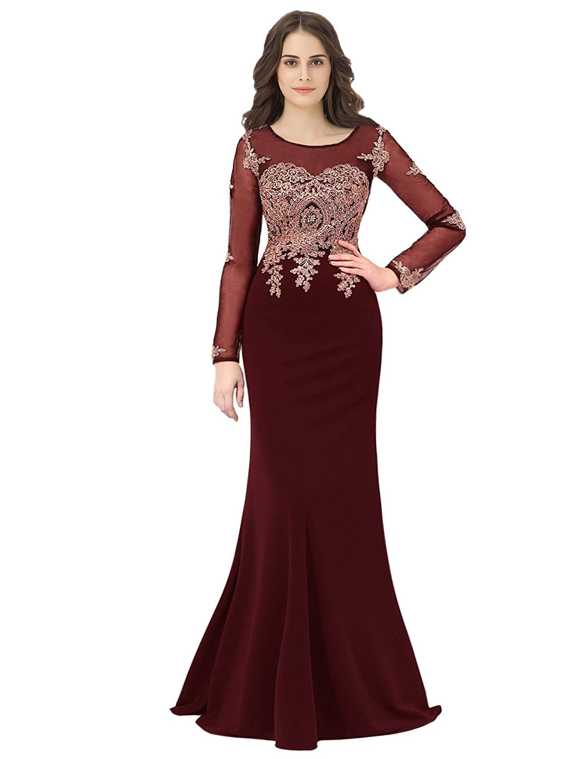 098b1f16 anmor Women's Beaded Sequin Prom Dress Long 2019 Formal Evening Party Ball  Gowns at Amazon Women's Clothing store: