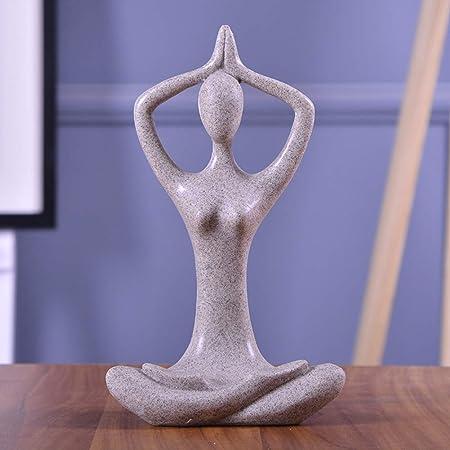 Figura De La Estatua De Pose De Yoga, Escultura De ...