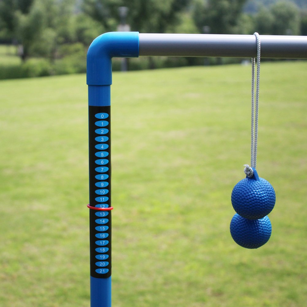 Ladder Toss Game Set With Built-In Score Rule