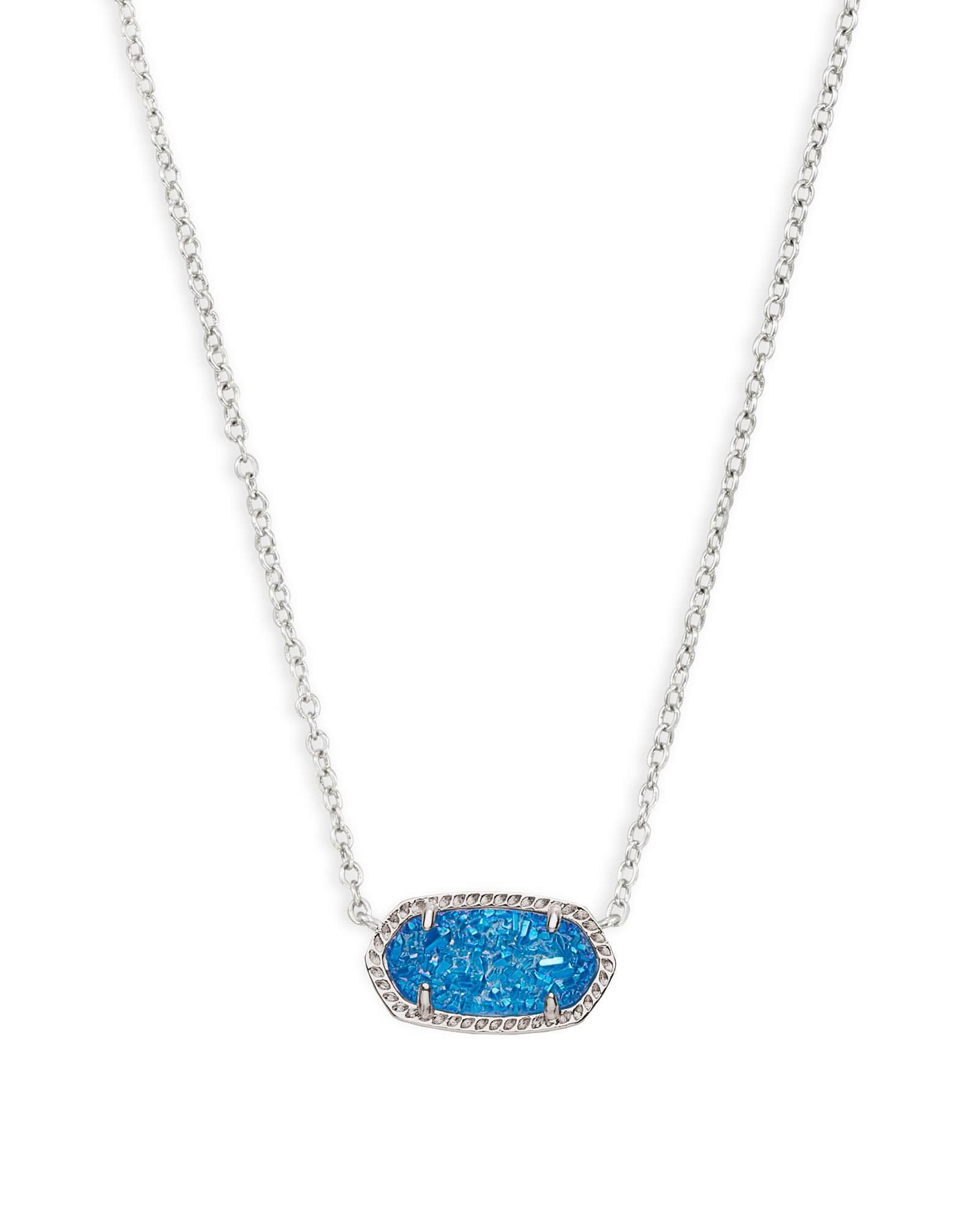 Kendra Scott Signature Elisa Pendant Necklace (Blue)