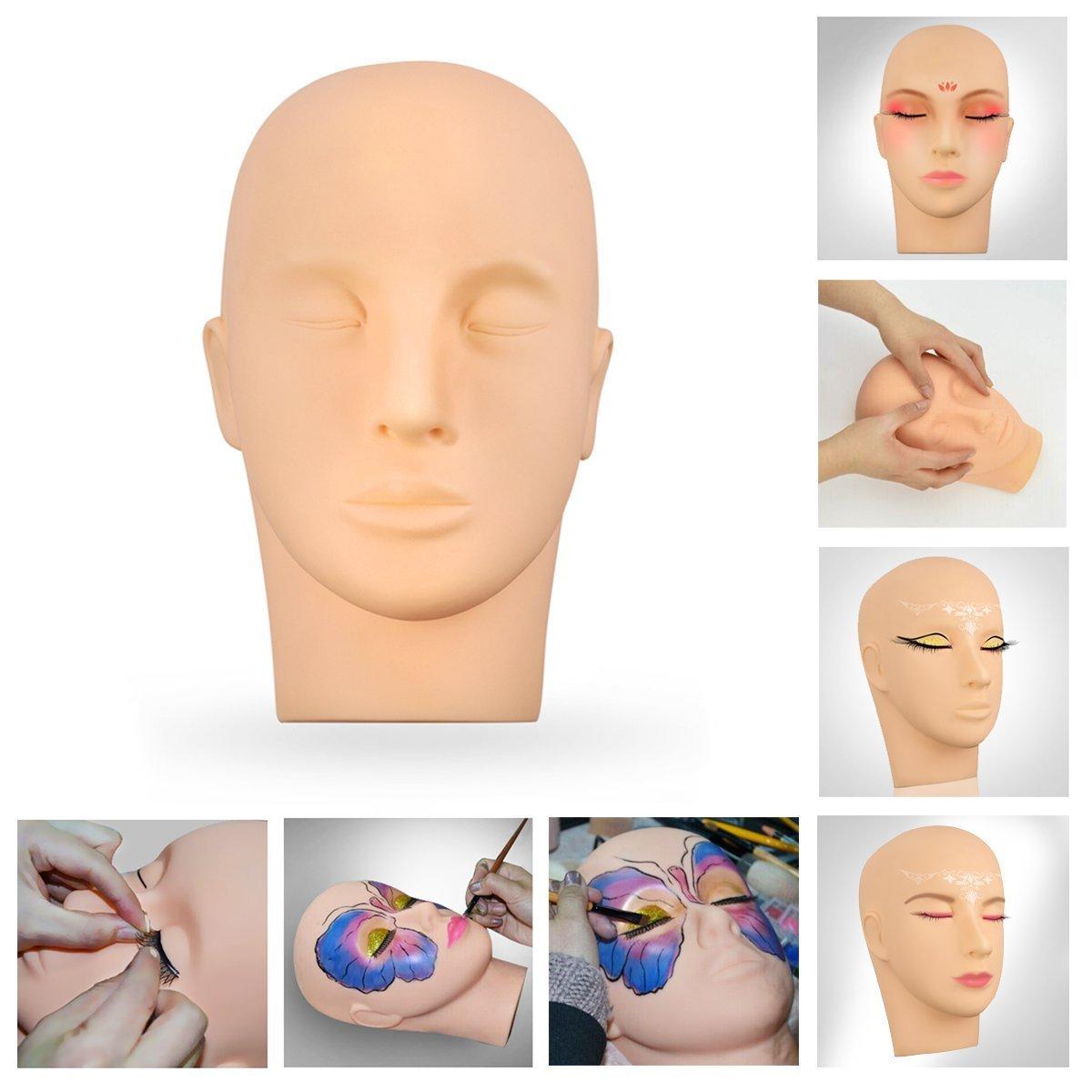 Training Kopf CoastaCloud Wimpernverlängerungen Make-up Kosmetik Massage Ausbildung Puppe
