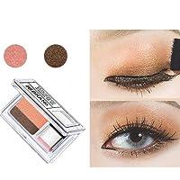 YUYOUG Palette de Fard à paupières de 2 Couleurs Lazy Eye Shadow Powder