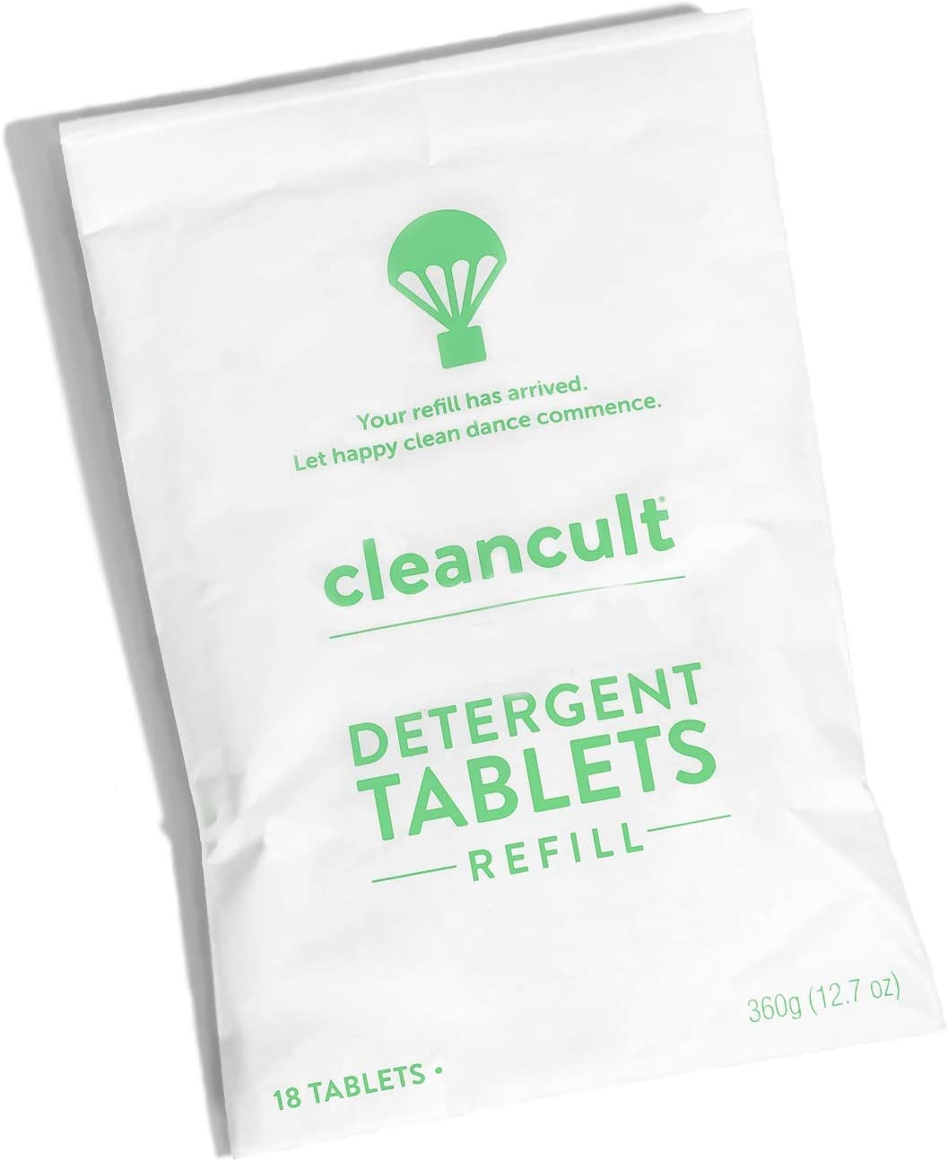 cleacult - Dishwasher Detergent PAPER MAILER REFILL (18 Tablets) - Eco Friendly Dish Tabs - Powerful Clean - Plant and Mineral Derived - Biodegradable - Lemongrass Fragrance