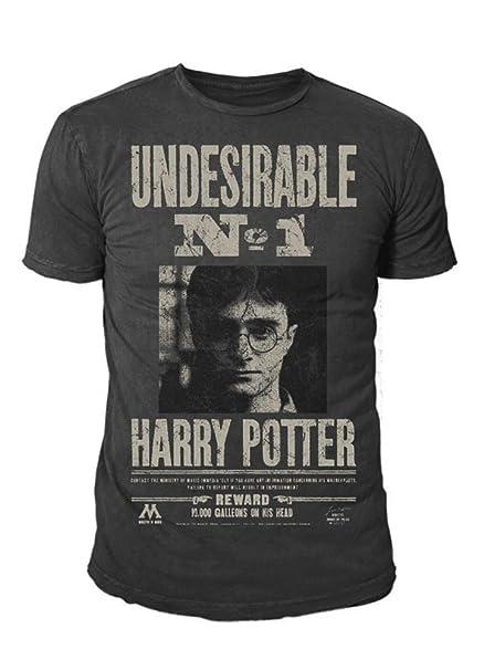 HARRY POTTER - - Camiseta para Hombre - Undesirable No 1 (Gris) (S de XL): Amazon.es: Ropa y accesorios