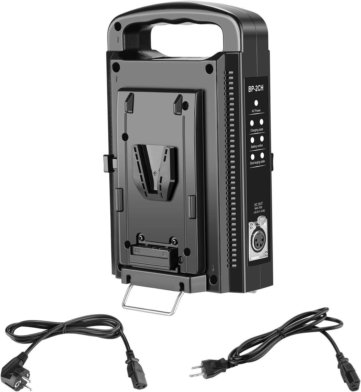 Neewer V Montage V Lock Ladegerät Mit Zwei Kanälen Und Kamera