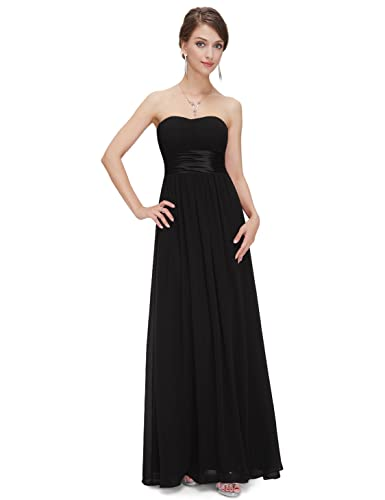 Ever Pretty Women's Strapless Ruched Bust Chiffon Long Sexy Evening Dress 09955